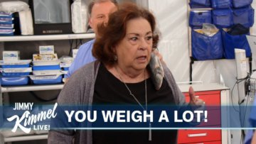 Jimmy Kimmel & Cousin Sal Prank Aunt Chippy with a Fake Medical Exam